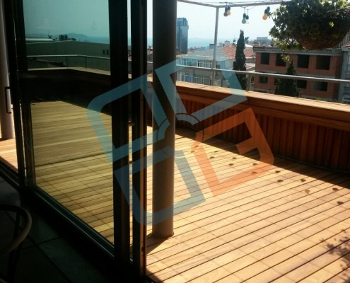 DK-009- Standart iroko deck teras uygulama