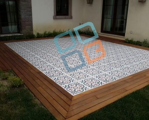 DK-012 Mozaik Karo ve Teak Deck Uygulaması